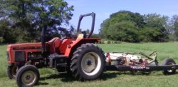 This tractor and mower have been my latest volunteer work.