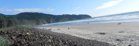 The beach at Cape Lookout is marvelous, but cold.