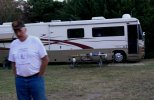 Larry Hagen and his motorhome.