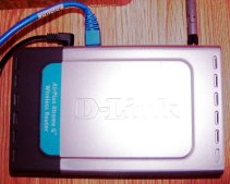 This is the router from D-Link that we use in or motorhome.