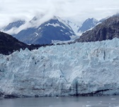 A close up view of one of Alaska's largest glaciers.