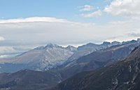 This is a veiw of the Gore Range mountains as you enter Trail Ridge Road.