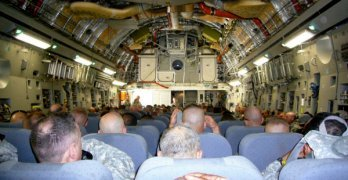 The C-17, US Army's answer to first class flying.