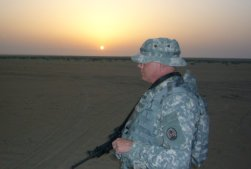 Sunrise over the Kuwait Army training area.