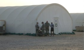 Living quarters for the team while training in Kuwait.