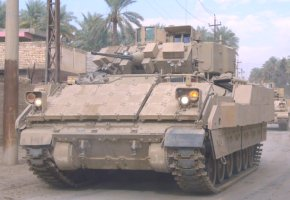 This is a US Army, Bradley Fighting Vehicle.