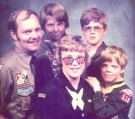 Everyone in the family is now registered in some position in Boy Scouts of America.