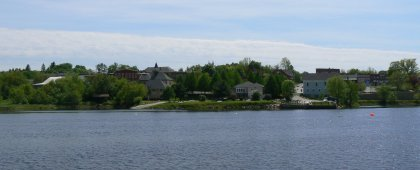 View of New Brunswick, looking across the St. Croix River.