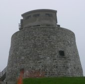 The round stone fort that guarded St. John harbor.
