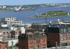 Halifax harbor with Dartmouth on the other side.