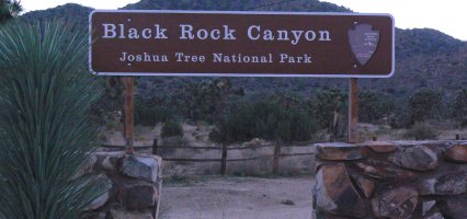 Entry to Black Rock Canyon, Joshua Tree National Park.
