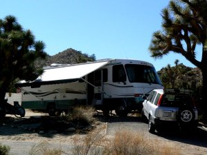 This is a view of our home for the three months we stayed in Black Rock Canyon.(click for a different view)