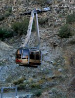The aerial tram from Palm Springs to Mt. San Jancinto.