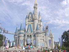 Snow White's castle, the center piece of the Magic Kingdom.