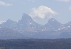 This is the view of the Tetons that we see from the park.