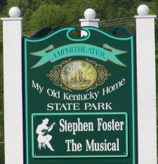 The sign at the entrance to the park ampitheater.
