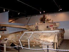 A captured Iraqui tank form Desert Storm.