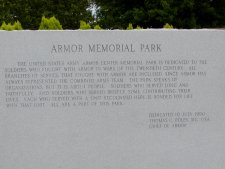 Sign at the entry to the memorial park, outside the museum.