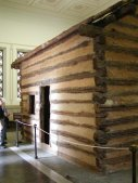 The cabin where President Lincoln was born.