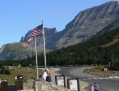 Logan Pass Visitor Center is small but busy.