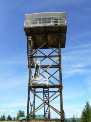 Blue Mountain fire lookout tower.