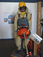 This shows the equipment worn for the jump.
