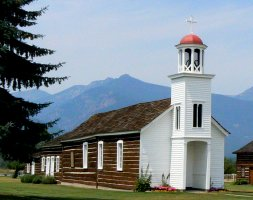 St. Mary's Mission Church, first white establishment in Montana.