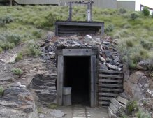They have also recreated a mine shaft such as was common in claims of that period.