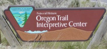 This is the sign that directs you to the interpretive center.