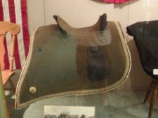 The saddle ridden by President Lincoln to and from the Gettysburg Address.