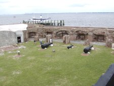 This is a view of the restored interior of the the fort.