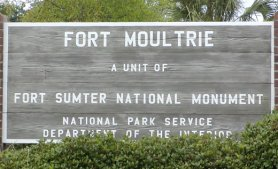 This is the sign in front of the old fort.