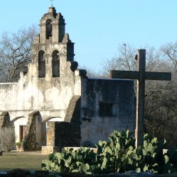 The church at Mission San Juan.