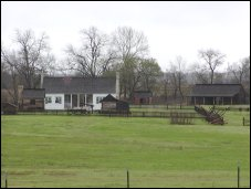 House and reconstructed buildings of Barrington, home of President Anson Jones.