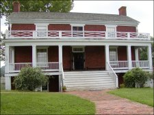 The McLean home where the first meeting and the surrender took place.