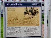 This sign tell the story of what happened at the McLean house.