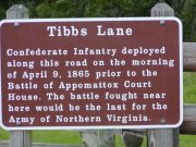 Sign pointing out the confederate infantry position.