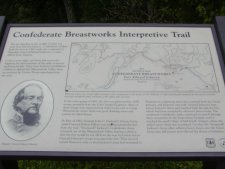 One of the story board signs located around the site.