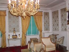 Here we see the retired president's sitting room.
