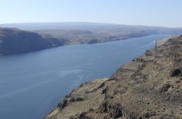 Here is a view of the Columbia River where I-90 crosses it on the east side of the mountains.