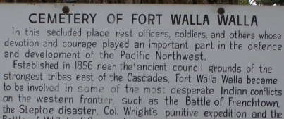 This is the sign at the gate to the fort's cemetary.