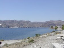 This is Lake Roosevelt, behind Gran Coulee dam.