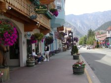 A typical street in Leavenworth, WA..