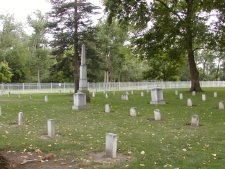 The fort's cemetary contains graves of soldiers and early settlers.