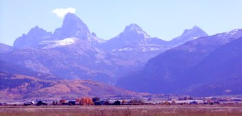 The Tetons from near the Idaho - Wyoming border.