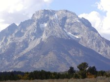 Mt. Moran is a volcanic mountan near the north end of the park.