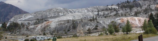 Mammoth Hot Springs has the largest formation of it's kind in the world. (click to see Angel Terrace)