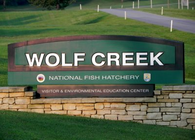 This is the sign at the entrance to Wolf Creek.